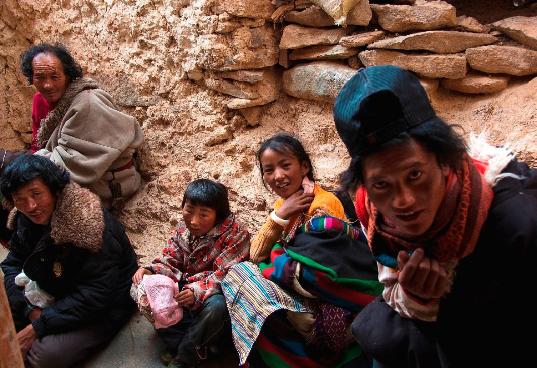 the local folks at the Chiu Gompa in Mansarovar