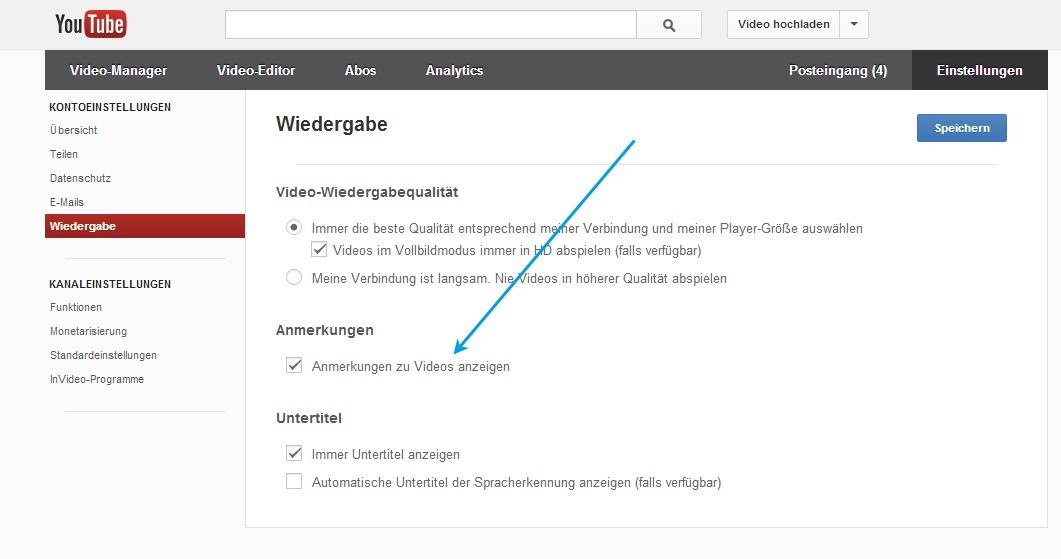 Youtube Anmerkungen In Videos Dauerhaft Abstellen Flipde