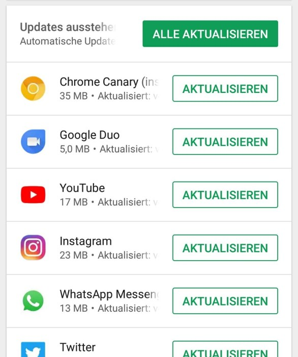 App Updates Android 1