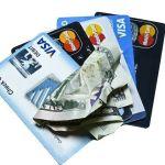 Tarjetas de credito, dinero de plastico.
