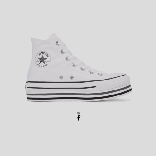 Chuck Taylor All Star Platform High Top 'Blancas'