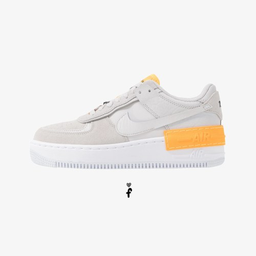 Nike Air Force 1 Shadow Grey-Laser Orange