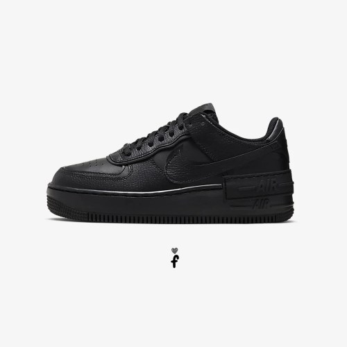 Nike Air Force 1 Shadow negras