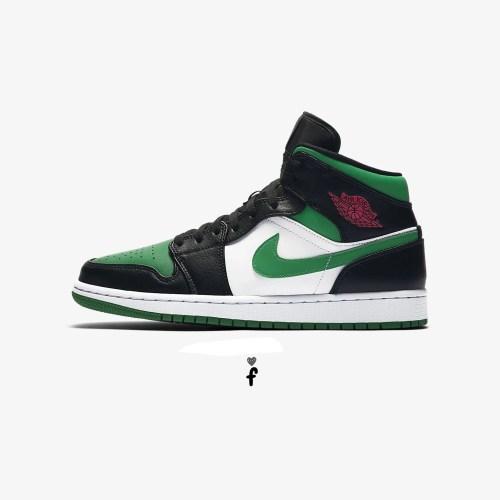 Nike Air Jordan 1 Mid 'Green Toe'