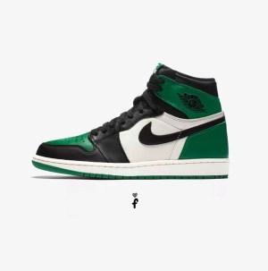 Nike Air Jordan 1 Retro High 'Pine Green'