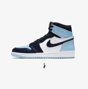 Nike Air Jordan 1 Retro High UNC Patent Blue Chill