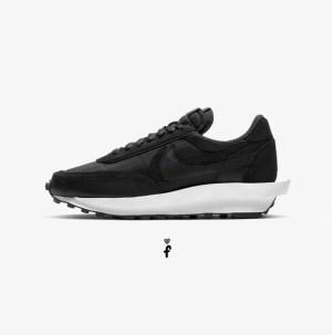 Sacai x Nike LD Waffle Negras