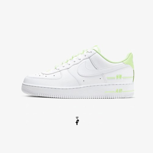 Nike Air Force 1 Low Tape Double Air White Barely Volt