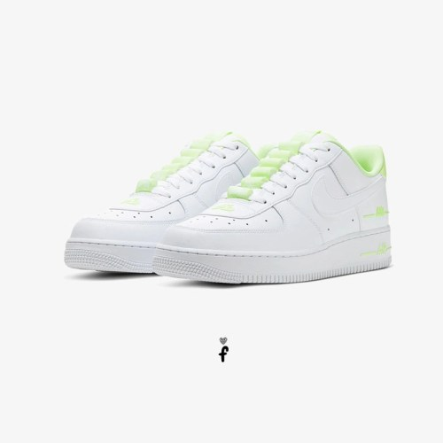 Air Force 1 Low Tape Double Air White Barely Volt