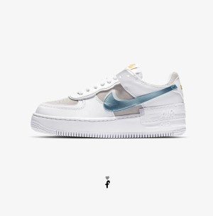 Nike Air Force 1 Shadow Blancas azules