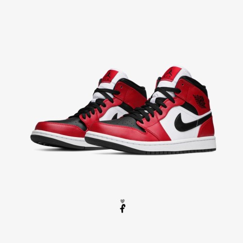 Nike Air Jordan 1 Mid Chicago Black Toe flipashop