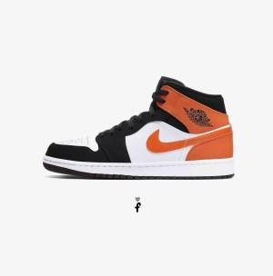 Nike Air Jordan 1 Mid Shattered Backboard Orange