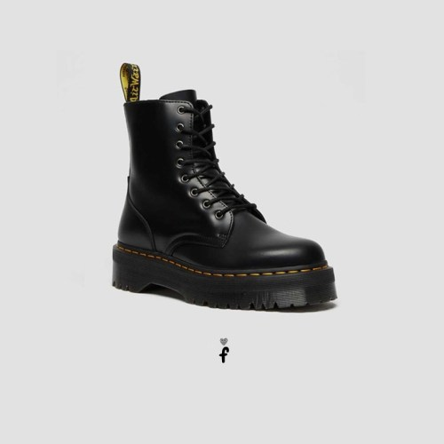 Botas de piel con plataforma Jadon Black