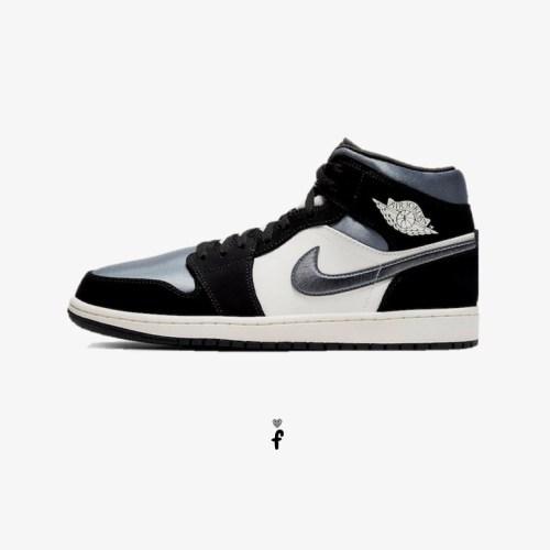 Nike Air Jordan 1 Mid Satin Grey Toe