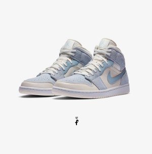 Nike Air Jordan 1 Mid Mixed Textures Blue