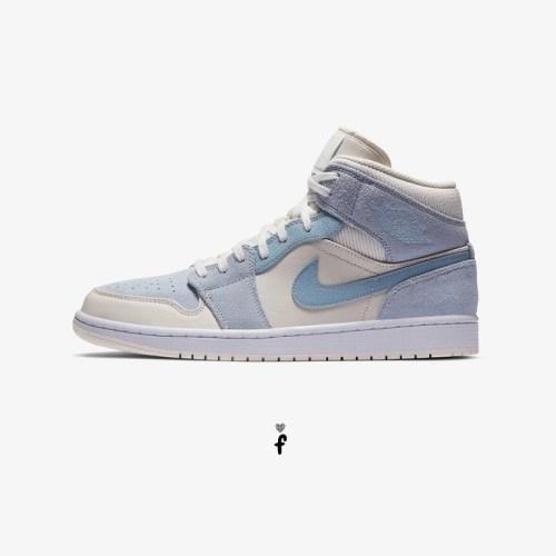 Nike Air Jordan 1 Mid Mixed Textures Blue