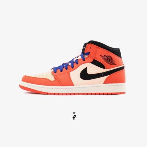 Nike Air Jordan 1 Mid Team Orange Black