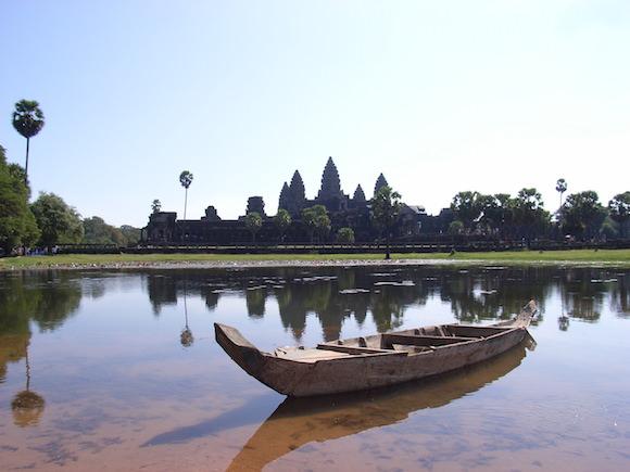 Angkor Wat mit Boot