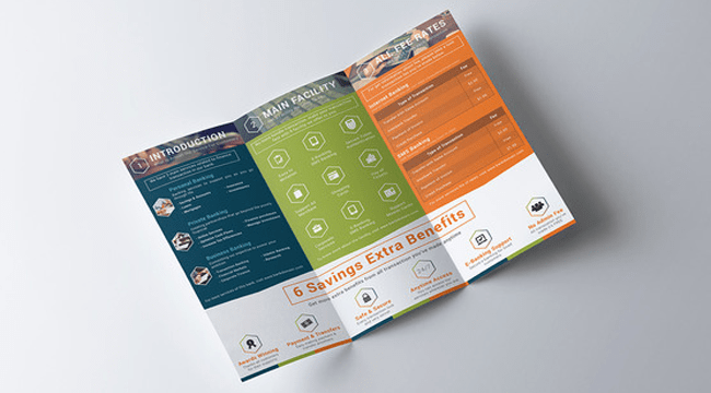 10 Stunning Bank Brochure Templates for Downloading   10 Stunning Bank Brochure Templates for Downloading