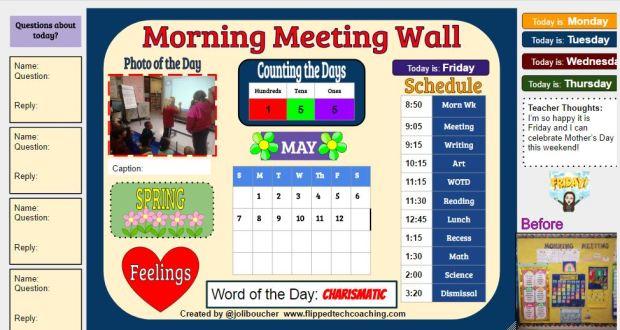 morning meeting wall