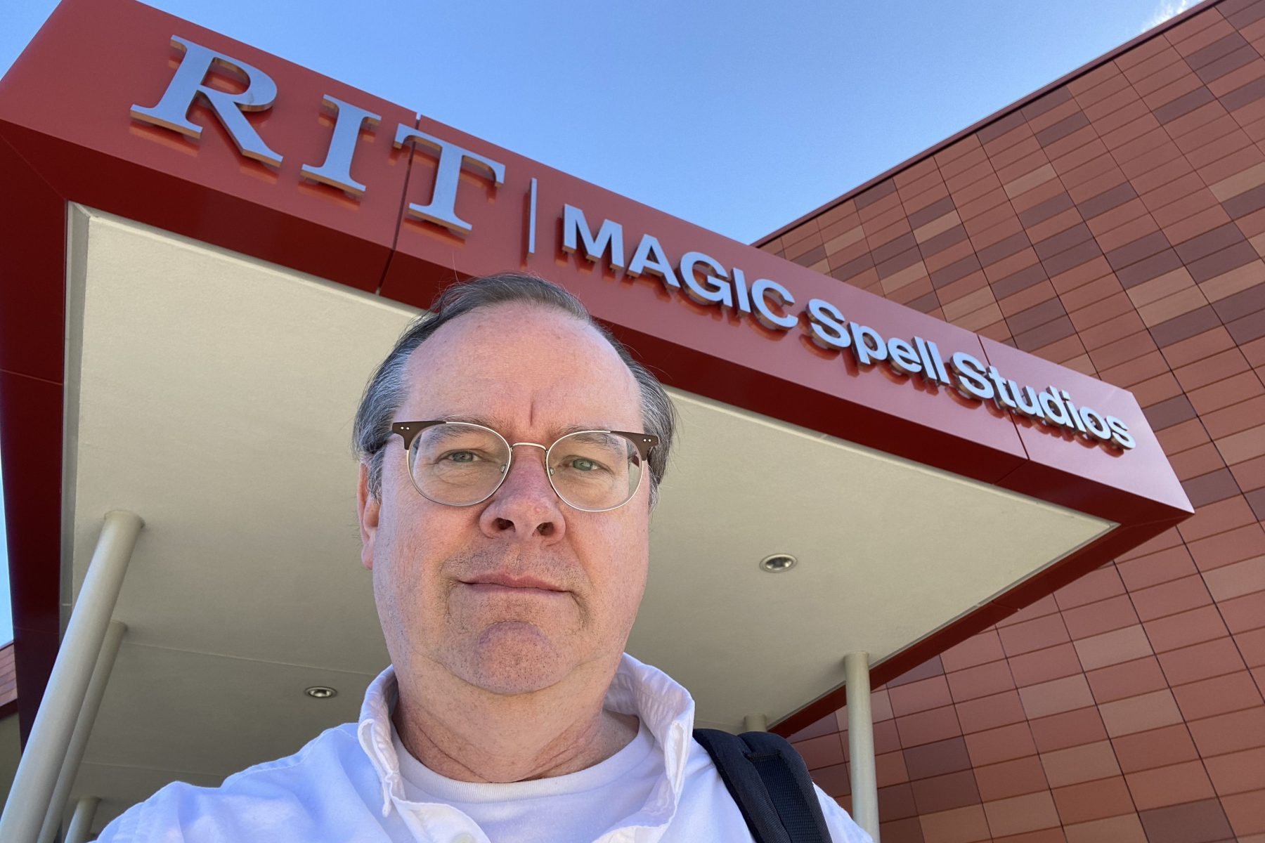Me in front of the RIT Magic Center