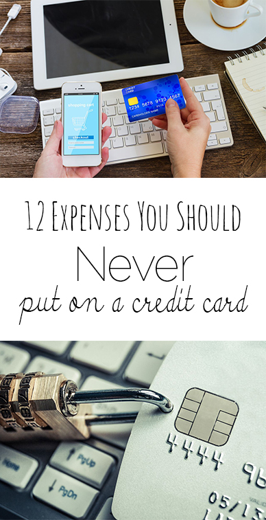 12 Expenses You Should Never Put on a Credit Card