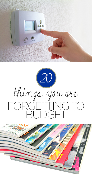 20 Things You are Forgetting to Budget