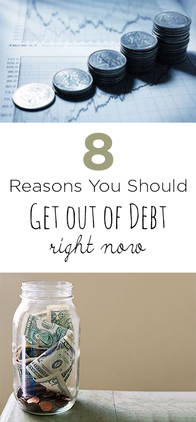 8 Reasons You Should Get out of Debt Right Now