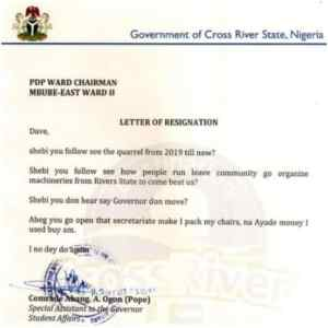 See PDP Member Funny Resignation Letter