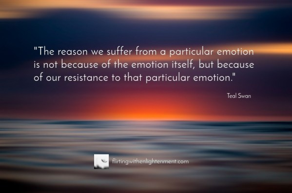 emotions, negative emotions, managing perceptions, water, teal swan, sunset, flirting with enlightenment, podcast