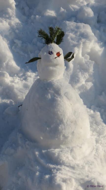Lebanese snowman