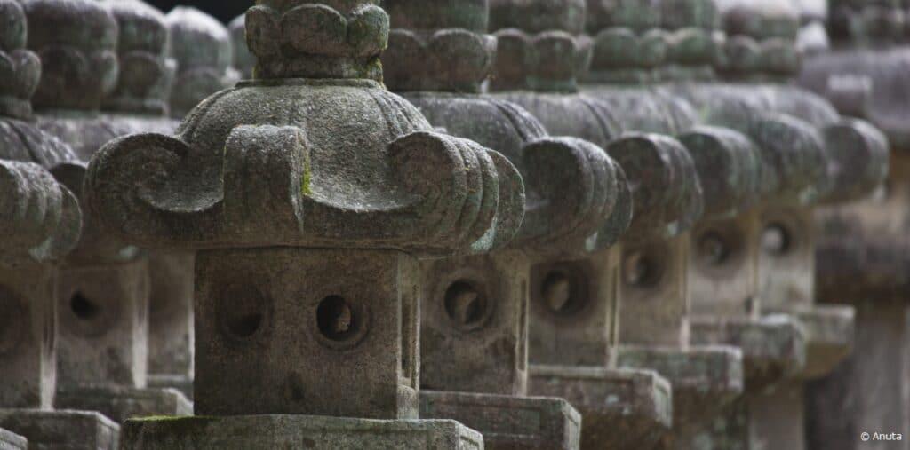 Japan grave stones