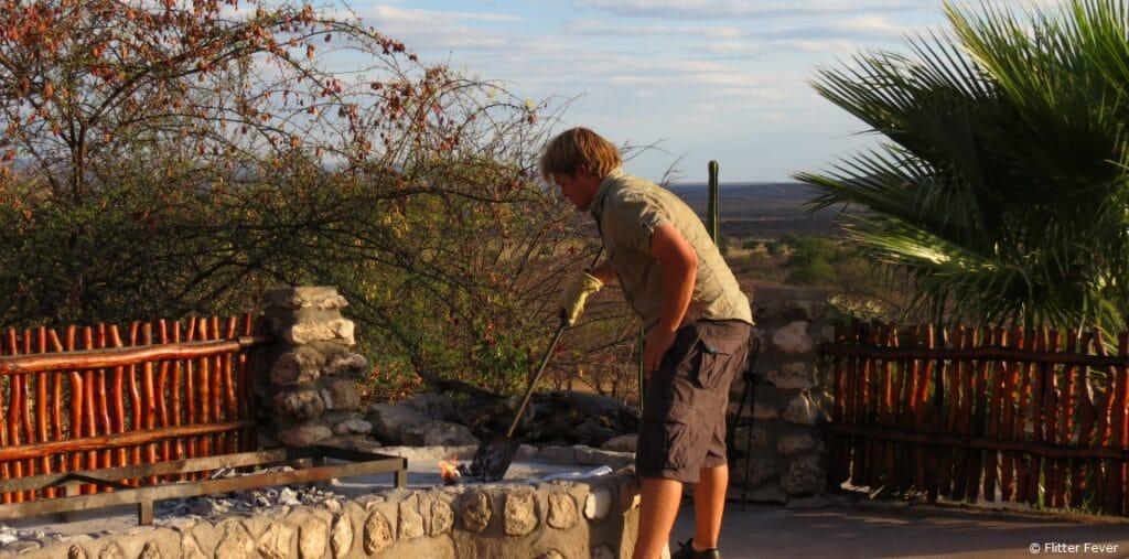 BBQ braai Sasa Safari Camp Outjo Namibia Etosha