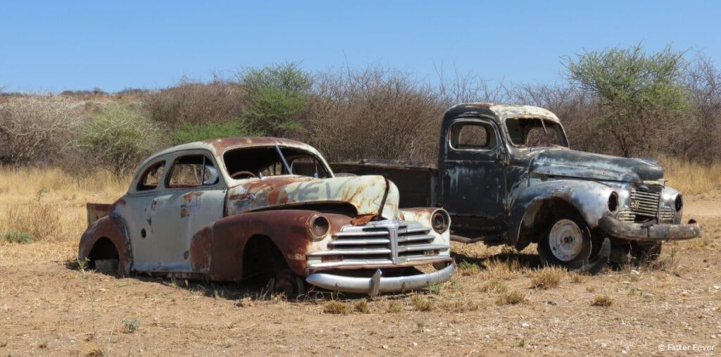 Old cars Sasa Safari Camp Outjo Namibia Etosha