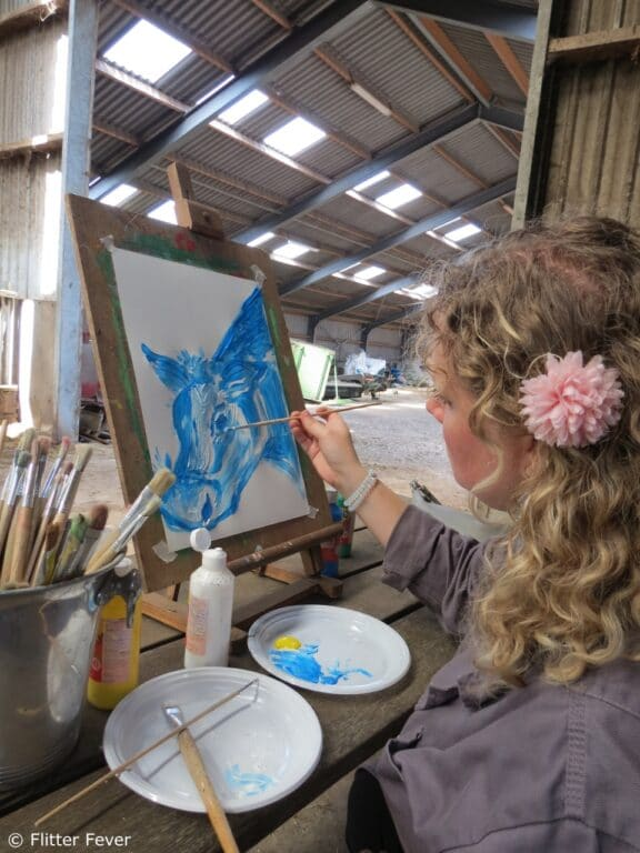 creative painting sister cow koe nederland holland
