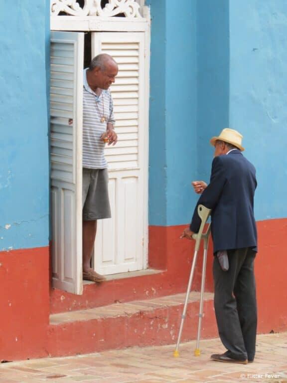 Older men talking @ Trinidad