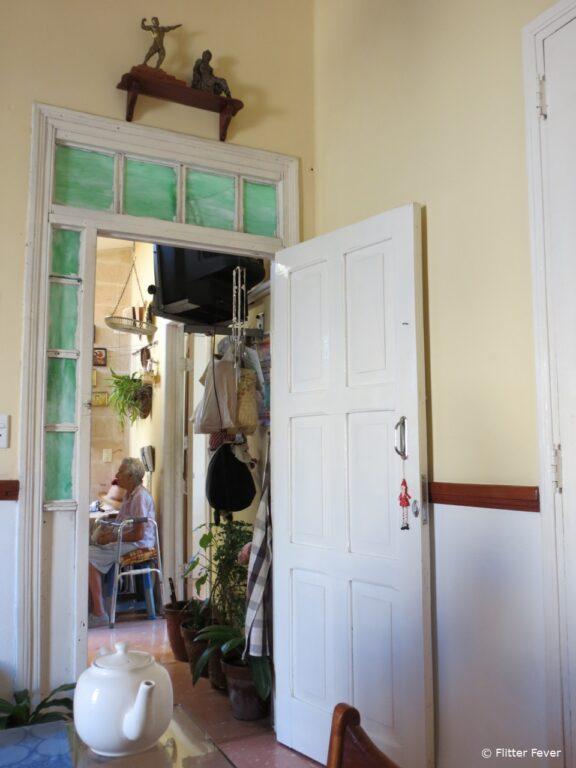 Breakfast view at Hostal Marilu in Cienfuegos