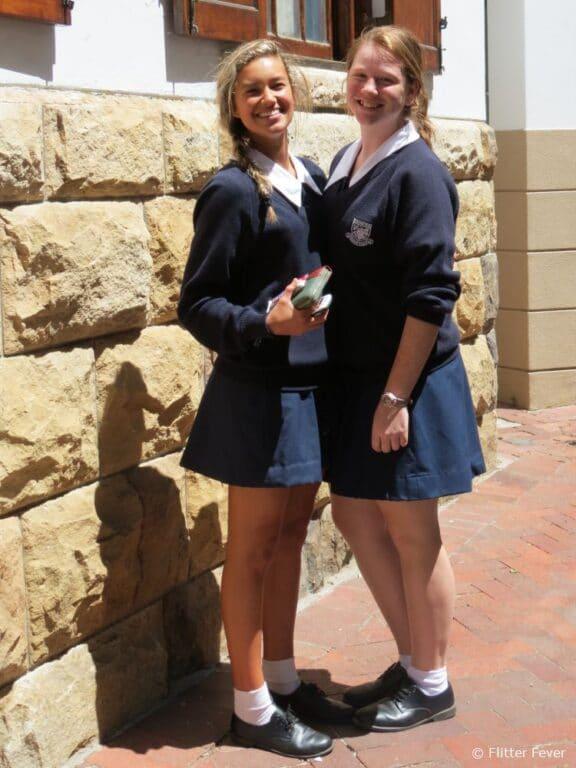 Uniformed school girls in Stellenbosch South Africa