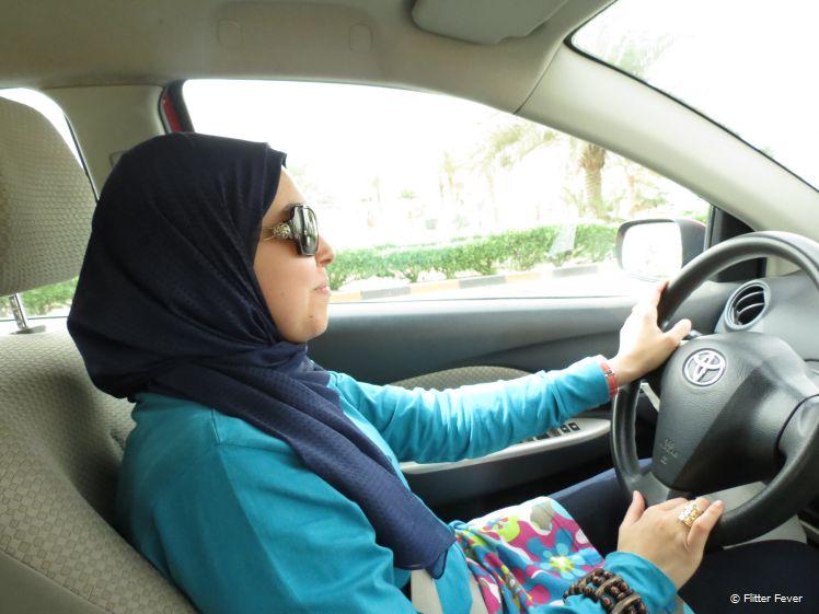 My Kuwaiti friend driving us around