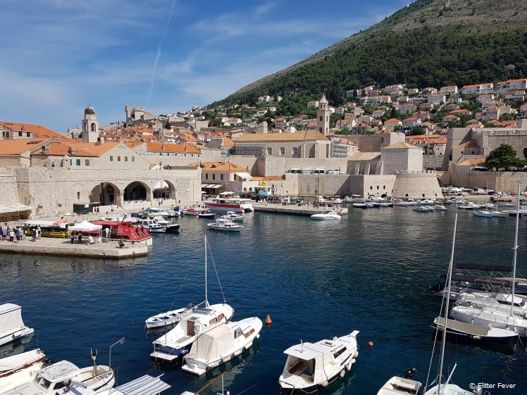 Dubrovnik old town harbour