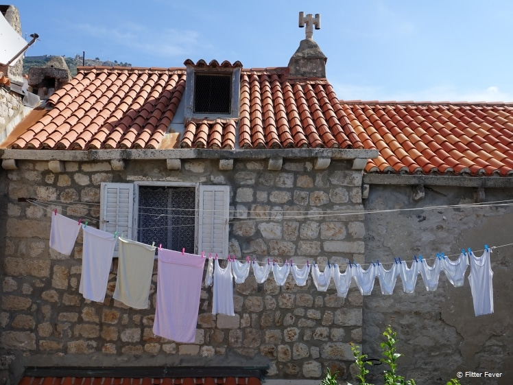 Dubrovniks are not afraid to hang their laundry out
