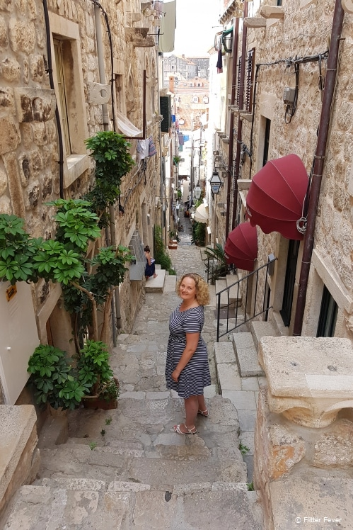 The narrow, charming alleys of Dubrovnik old town