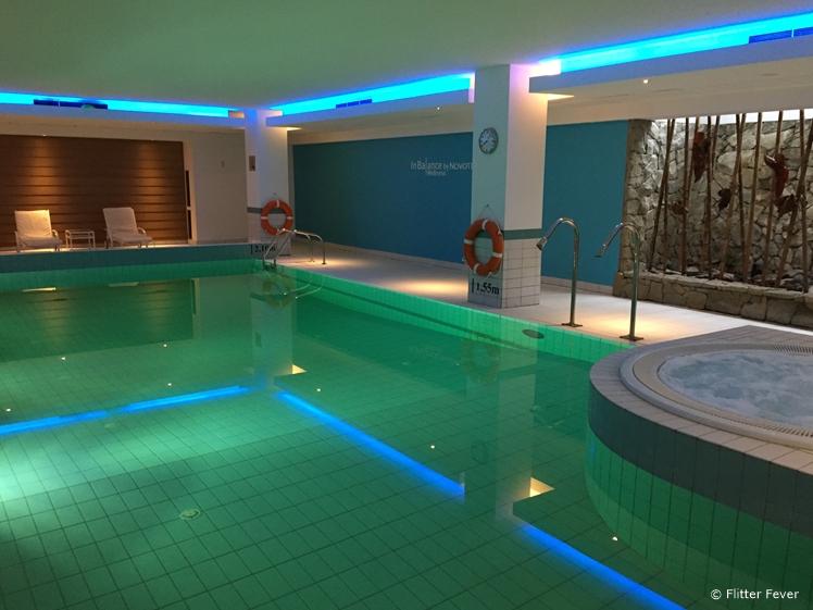 Indoor swimming pool of Novotel Krakow Centrum