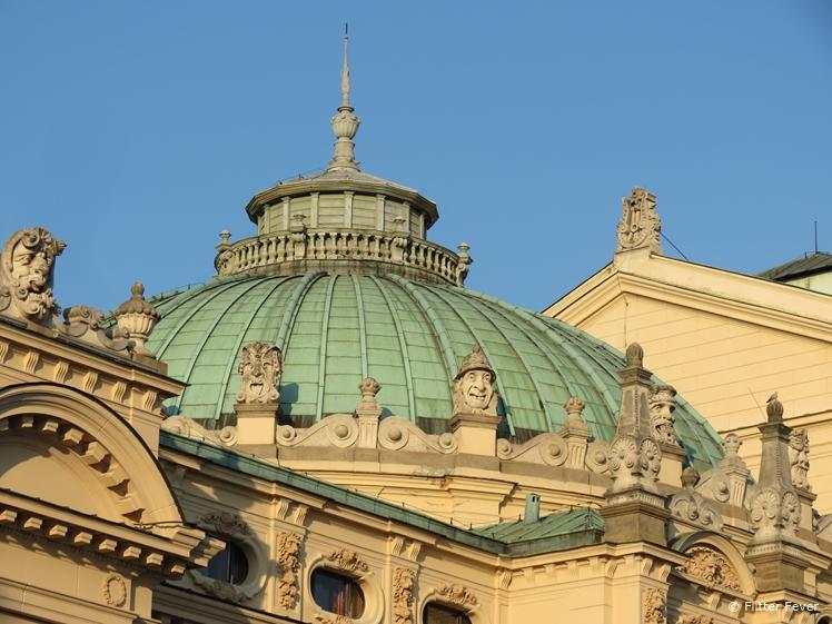 Roof of Teatr im. Juliusza Slowackiego in Krakow
