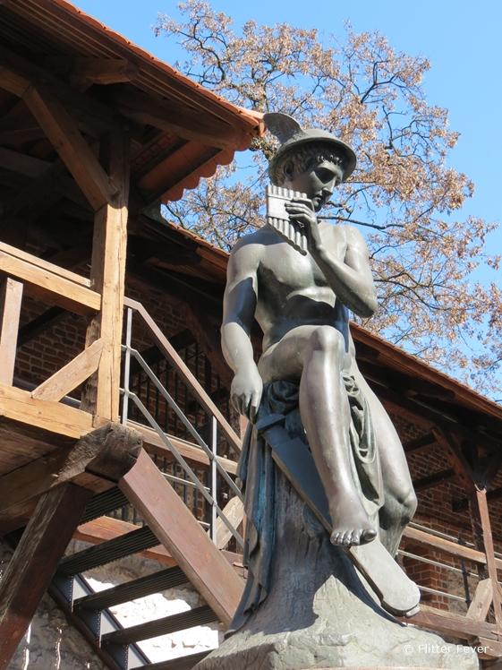 Statue of Mercury at Florianska, Krakow