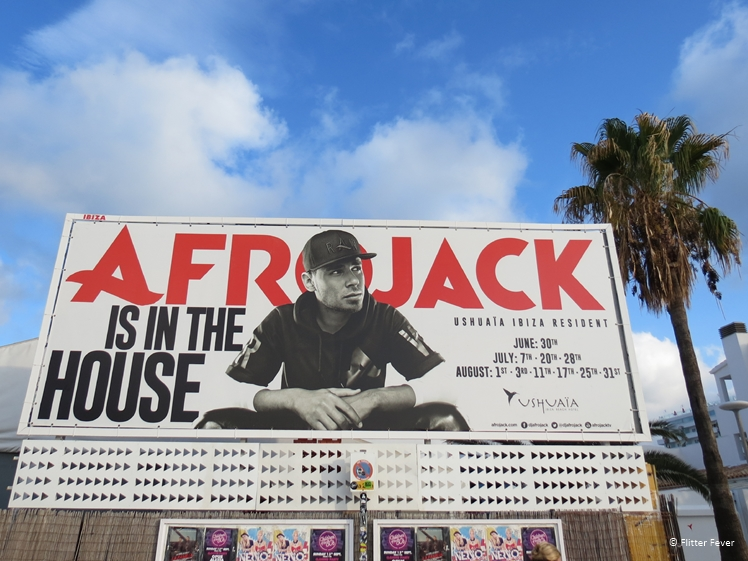 Announcement Afrojack performance Ibiza Ushiaia