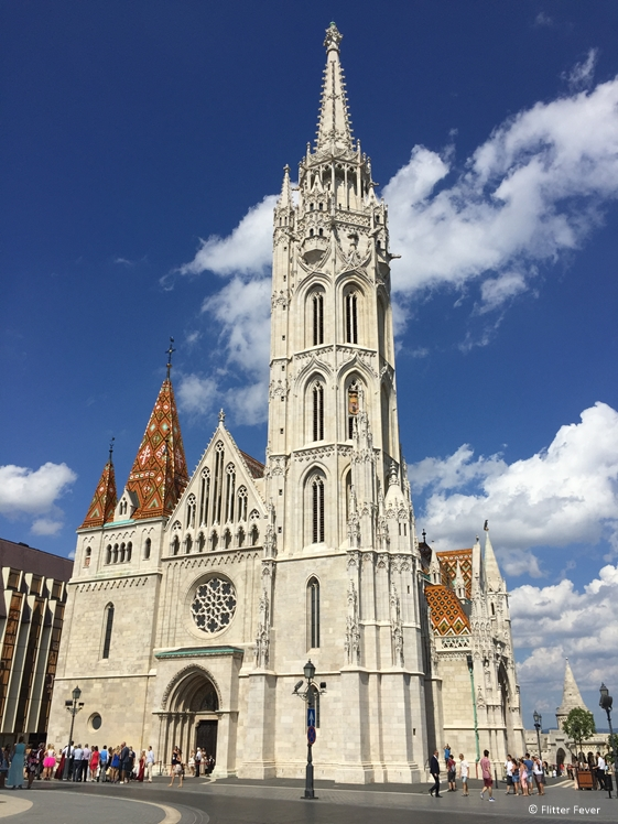 Matthias Church with Fisherman's Bastion on the back Budapest