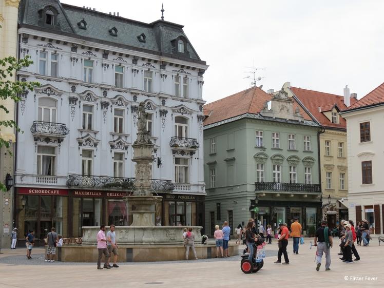 Hlavné námestie (main square) in Bratislava