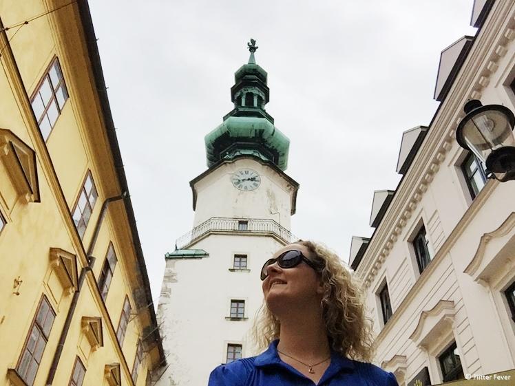 Me at St. Michael's Gate Bratislava