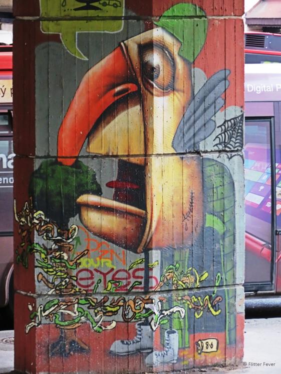 Super cool street art in Bratislava